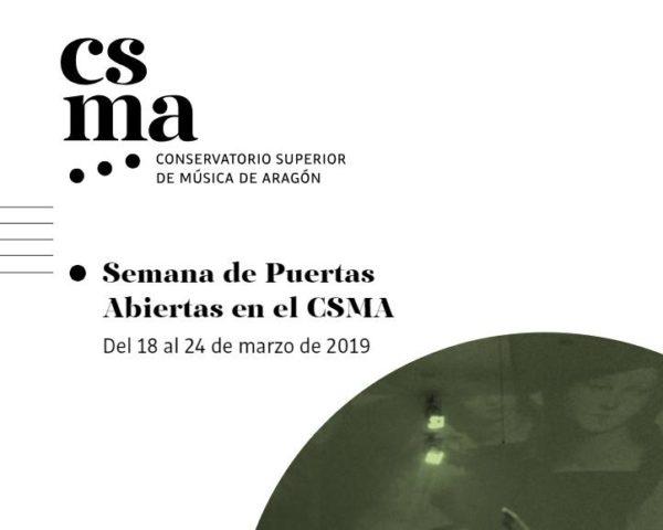 Semana de Puertas Abiertas CSMA. Del 18 al 24 de marzo de 2019