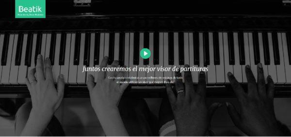 Beatik, el visor de partituras inteligentes