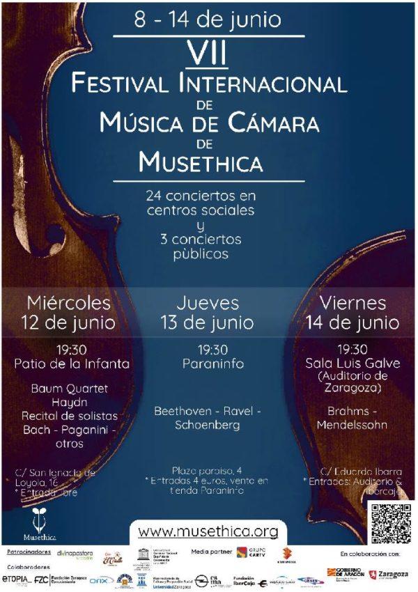 VII Festival Internacional de Música de Cámara de Musethica en Zaragoza l 8 al 14 de junio