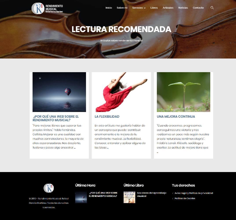Nueva web sobre rendimiento musical