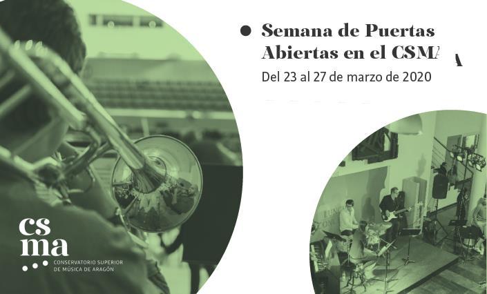 Jornadas de Puertas Abiertas CSMA. Del 23 al 29 de marzo de 202