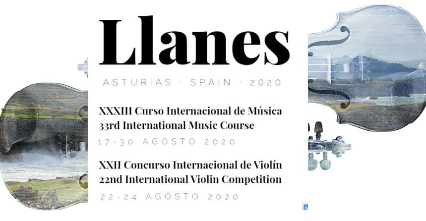 "XXII Concurso Internacional de Violín ""Villa de Llanes"". XXXIII Curso."