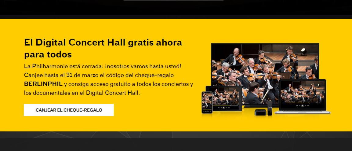 Berliner Philharmoniker para facilitar #yomequedoencasa permite gratis los conciertos