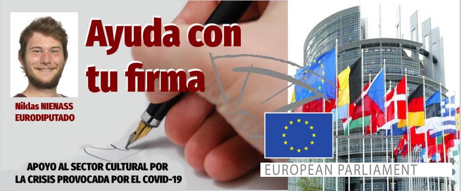 El Eurodiputado Niklas Nienass ha preparado una Carta abierta a la C.E. y a los Estados miembros defendiendo al sector cultural en esta crisis.