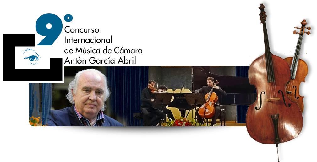 """IX Concurso Internacional de Música de Cámara """"Antón García Abril"""" 2021"""