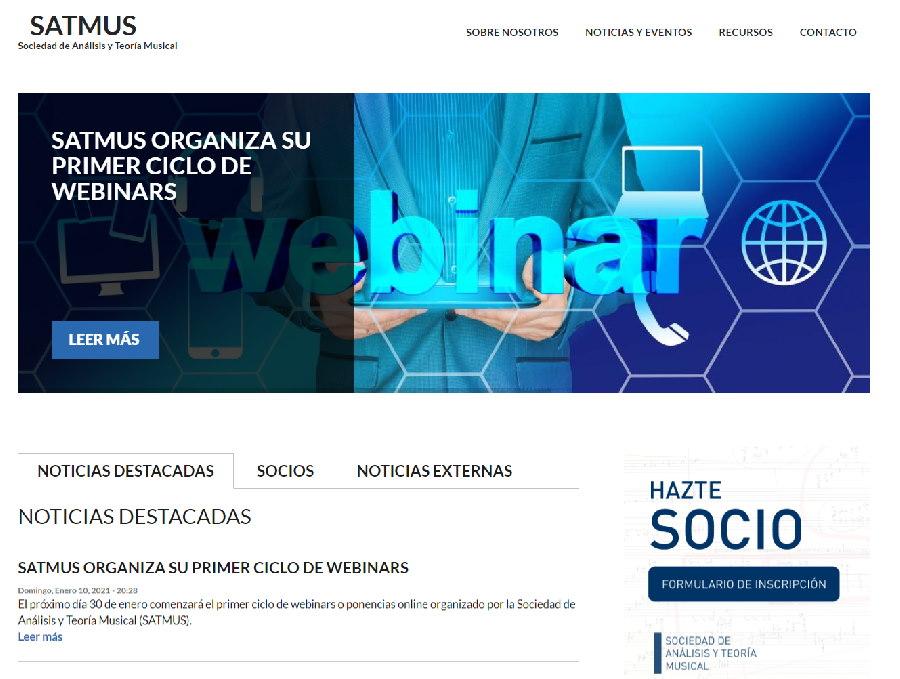 Ciclo dewebinars de la Sociedad de Análisis y Teoría Musical (SATMUS)